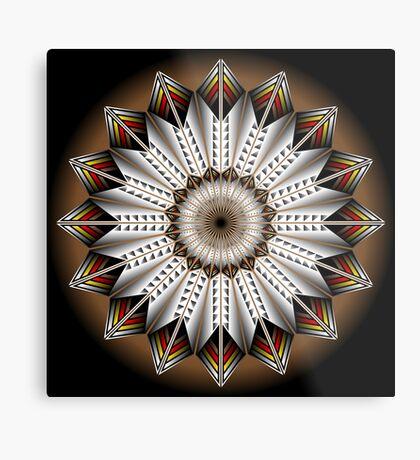 Native Feather Design Metal Print