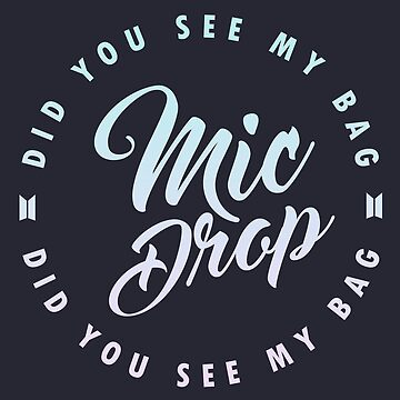 BTS Mic Drop calligraphy with circular lyric design on dark bg by shopnojams