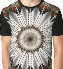 Native Feather Design Graphic T-Shirt