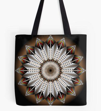 Native Feather Design Tote Bag