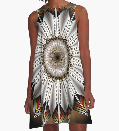 Native Feather Design A-Line Dress