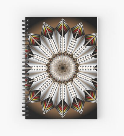 Native Feather Design Spiral Notebook