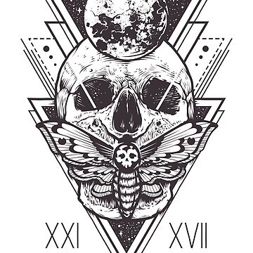 Butterfly Skull Moon Sacred Geometry by sakharoth