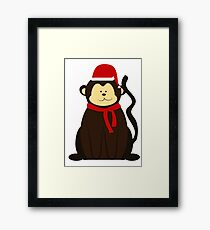 ChristmasMonkey! Framed Print