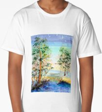Dreaming Trees Watercolor Painting Long T-Shirt