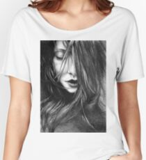 Like A Storm, 2017, 50-70 cm, graphite crayon on paper Women's Relaxed Fit T-Shirt