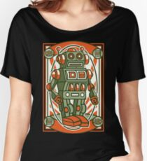Vintage Toy Robot Cartoon Character Women's Relaxed Fit T-Shirt