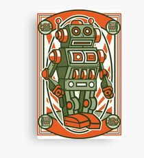 Vintage Toy Robot Cartoon Character Canvas Print