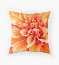 Dahlia in Orange Throw Pillow