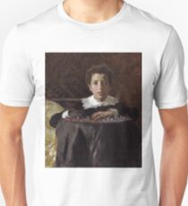 Antonio Mancini, Italian, 1852-1930 -- Young Boy with Toy Soldiers Unisex T-Shirt