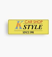 CAR SHOP K-STYLE Canvas Print