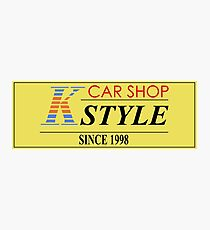 CAR SHOP K-STYLE Photographic Print