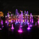 Doha - Night Fountain by Camilla