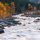 Fall Morning on the Wenatchee River by lkamansky