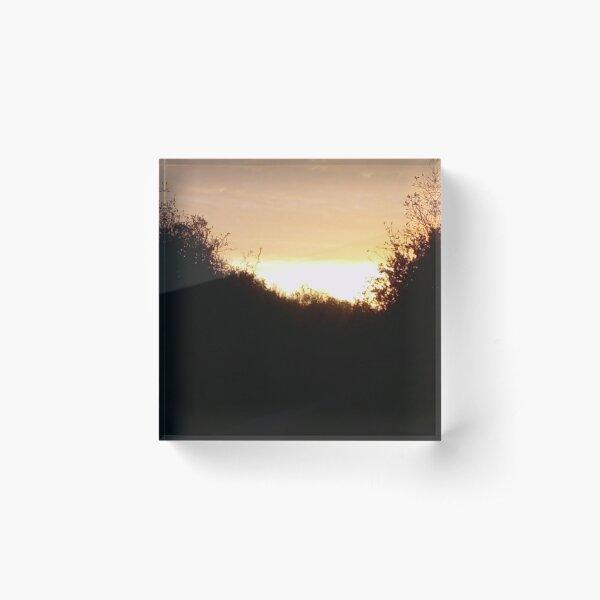 Sunrise on the Greenway Acrylic Block