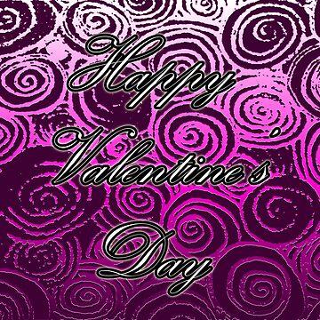 Happy Valentine's Day (Pink Swirl) by blakcirclegirl