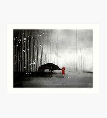 Little Red Riding Hood ~ The Fisrt Touch  Art Print