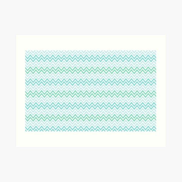 Chevrons Fashion Pattern Design Art Print