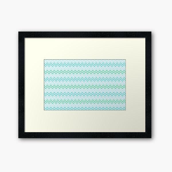 Chevrons Fashion Pattern Design Framed Art Print