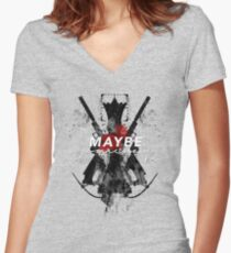 Maybe Someday? Women's Fitted V-Neck T-Shirt