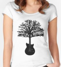 The guitar tree Women's Fitted Scoop T-Shirt