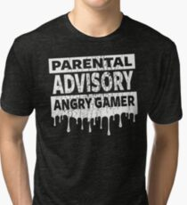GAMING - ANGRY GAMER Tri-blend T-Shirt