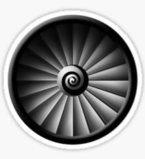 Jet Engine Sticker