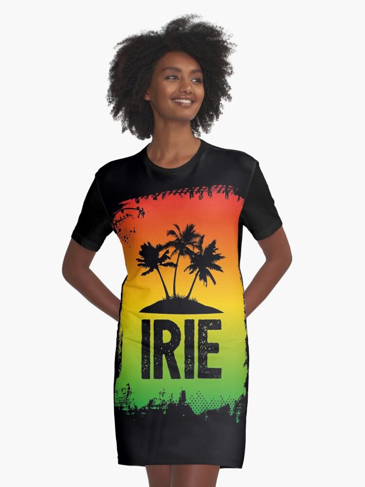 Irie jamaican patwa slang rasta friendly greeting graphic print irie jamaican patwa slang rasta friendly greeting graphic print graphic t shirt dress by hothibiscus redbubble m4hsunfo