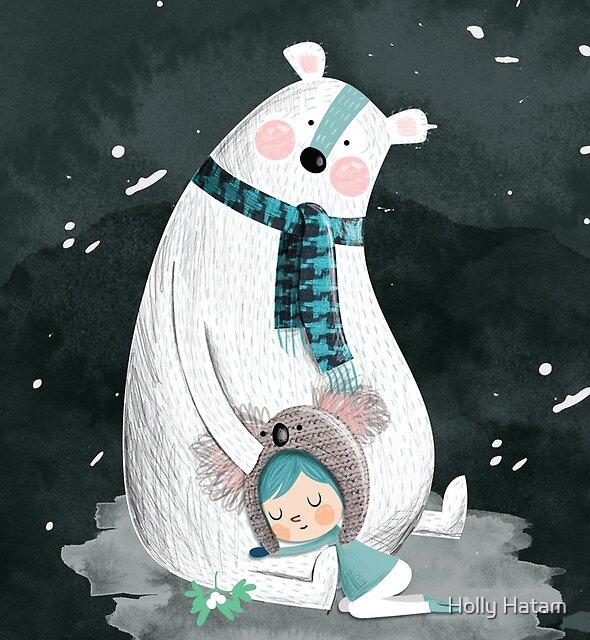 Polar Bear Hug by Holly Hatam