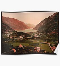 A vintage photo of a view from Viking Houg, Odde Poster