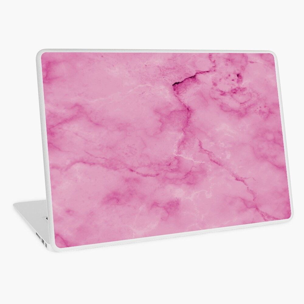 Marble Pattern Background Texture Girly Pink Laptop Skin By In3pired Redbubble