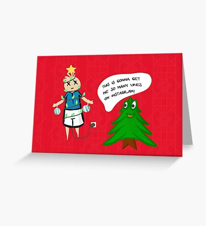 Reverse Christmas in a Paralel Universe - Funny Holiday Card Greeting Card