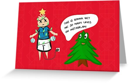 Reverse Christmas in a Paralel Universe - Funny Holiday Card by Andreea Butiu