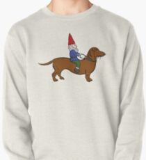 Gnome Riding a Dachshund Pullover