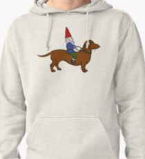 Gnome Riding a Dachshund Pullover Hoodie