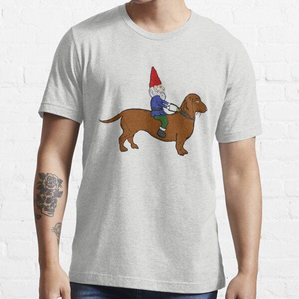 Gnome Riding a Dachshund Essential T-Shirt