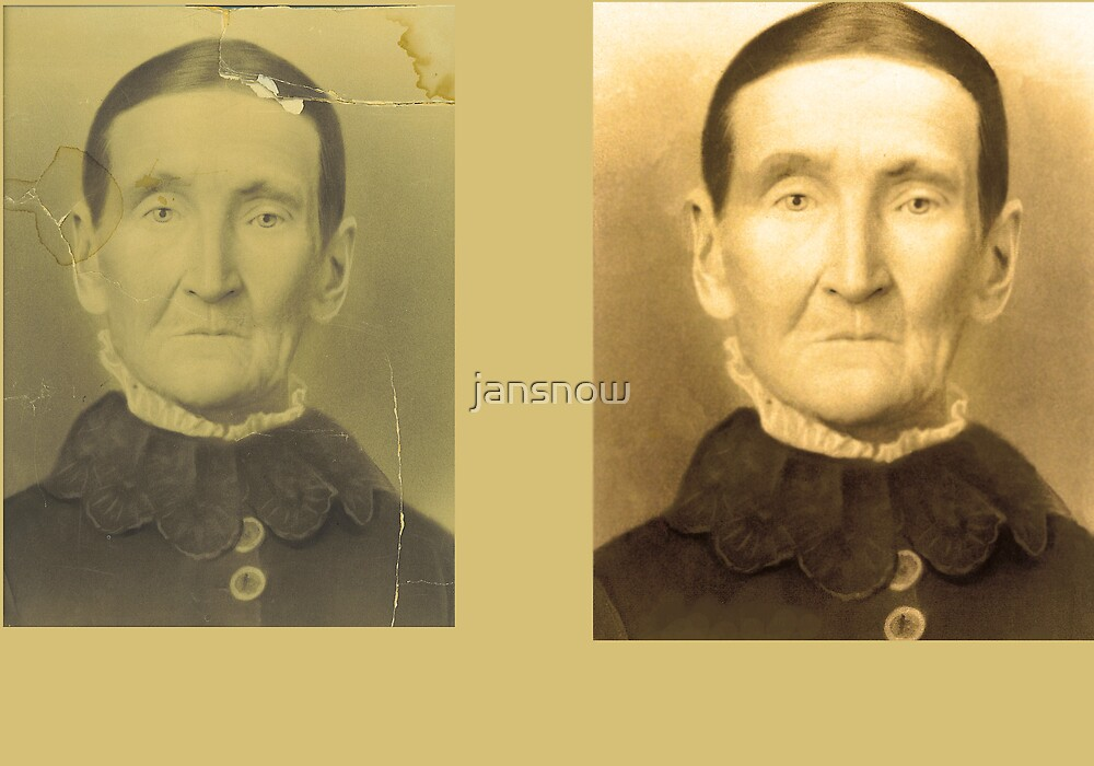 Phoebe Adams Hancock before and after photo restoration by jansnow