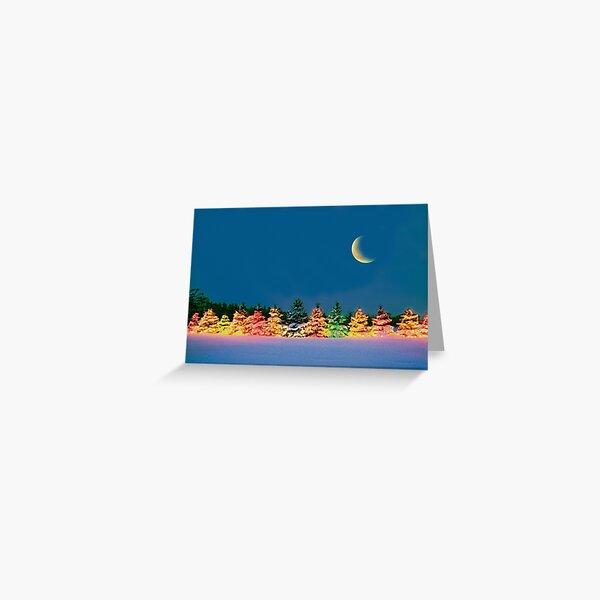 Christmas Moon Greeting Card