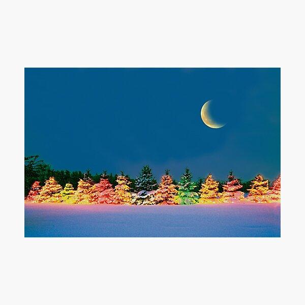 Christmas Moon Photographic Print