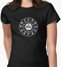 Circle of Fifths dark Womens Fitted T-Shirt