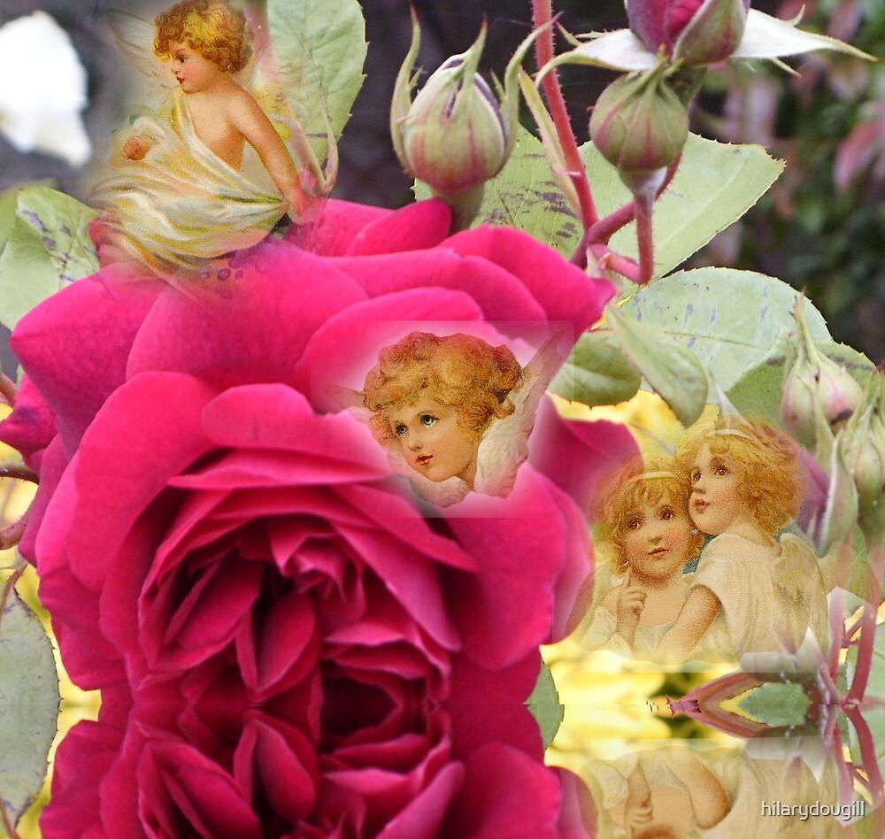 A garden full of angels by hilarydougill