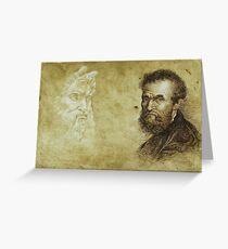 """Michelangelo"" Greeting Card"