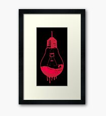 EVIL DEAD - LIGHT BULB Framed Print