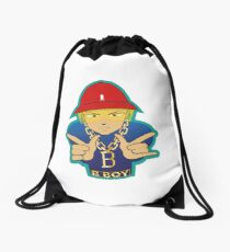 B-boy character Drawstring Bag