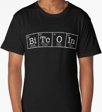 Bitcoin Periodic Table Crypto Currency Chemistry Shirt Long T-Shirt