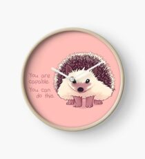 """""""You Are Capable"""" Hedgehog Clock"""