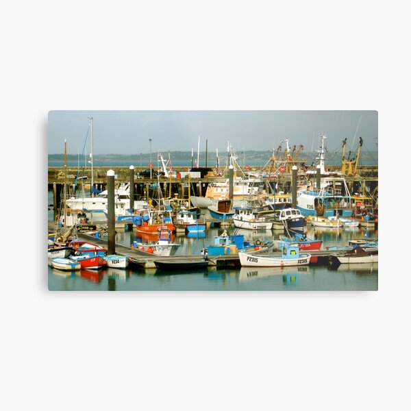 Newlyn Harbour, Cornwall. Metal Print