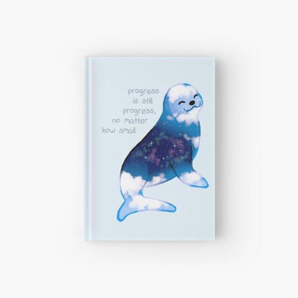 """Progress is Still Progress"" Galaxy Seal Hardcover Journal"