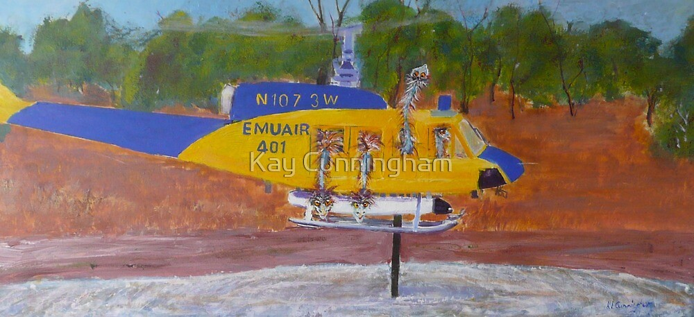Emu Air Helps Out The CFS, Mintaro, South Australia by Kay Cunningham