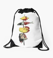 Scary Yakitori  Drawstring Bag